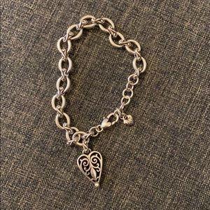 Brighton Heart logo silver tone bracelet